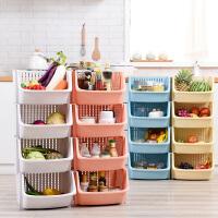 玩具收纳筐塑料厨房收纳篮零食篮子水果蔬菜置物篮藤编多层