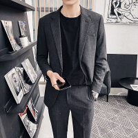春款绅士潮流一粒扣小西服时尚西装上衣帅气修身韩版外套潮男