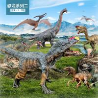儿童实心仿真迅猛龙暴龙霸王龙三角龙牛龙棘背龙恐龙玩具模型
