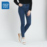 [秒杀价:63.9元,新年不打烊,仅限1.22-31]真维斯女装 2019秋装新款 时尚舒适弹力牛仔裤