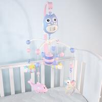 新生儿婴儿玩具0-1岁床铃床头铃音乐旋转摇铃床绕床挂可充电