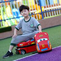 行礼拉箱手拉箱行李箱儿童旅行箱男孩18寸拉杆箱汽车多功能户外旅行箱手拉箱 +13寸