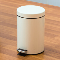 【满减】欧润哲 3L米白色缓降式垃圾桶 家用时尚清洁收纳桶