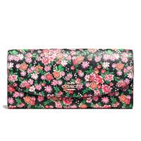 【当当自营】蔻驰(COACH)时尚女士花卉涂层帆布手拿包钱包卡包  F57962