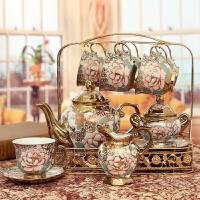 欧式陶瓷摆件家居客厅电视柜酒柜摆设装饰品创意咖啡厅奢华工艺品 16件套装摆设品*盒【023】