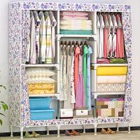 索尔诺简易布衣柜 大容量加厚牛津布 时尚衣橱加粗加固钢管组合衣柜8506