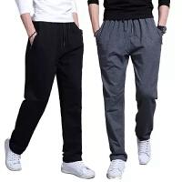 春夏季男士运动裤男薄款长裤宽松加肥加大码胖裤子直筒休闲裤卫裤