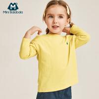 【每满200减40】迷你巴拉巴拉女童长袖T恤2019春装新款儿童宝宝舒适柔棉体恤衫