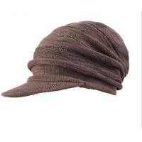 男士时尚冬帽针织帽保暖帽鸭舌帽堆堆帽秋冬季男士帽子