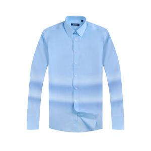 youngor/雅戈尔 新品衬衣 男士高支棉免熨蓝色长袖衬衣CA16259IJA
