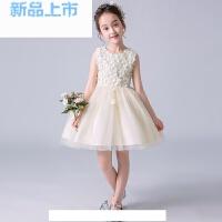女童礼服公主裙夏季蓬蓬纱花童婚礼女孩生日儿童表演服