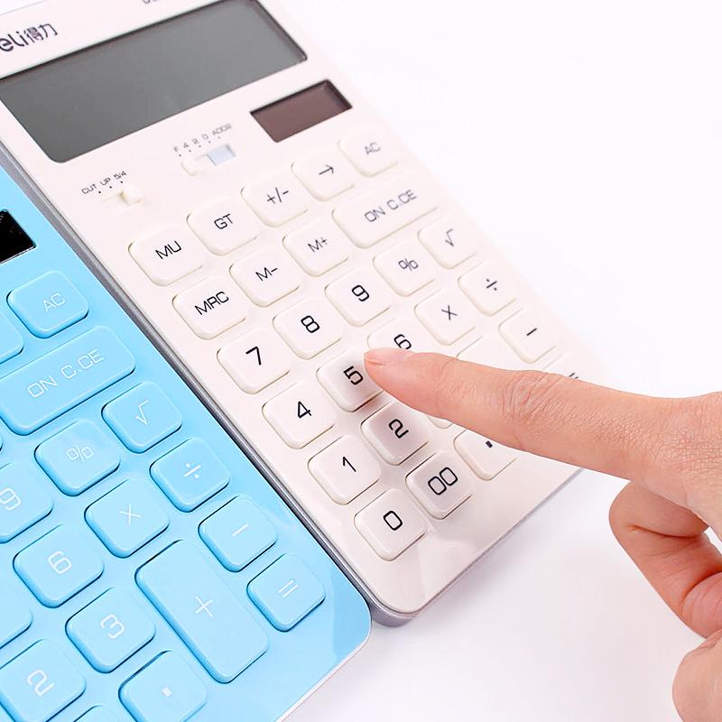 太阳能学生用计算机 女 办公用商务型金融会计计算器可爱 韩国 糖果色