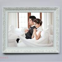 欧式新款实木相框16寸20寸24寸30寸32寸36英寸白色挂墙婚纱照像框