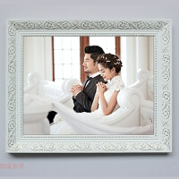 �W式新款��木相框16寸20寸24寸30寸32寸36英寸白色���婚�照像框