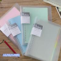 活页本巨门文具A4 A5 B5 纯色四色活页和笔记活页夹淡彩曲奇替换芯本