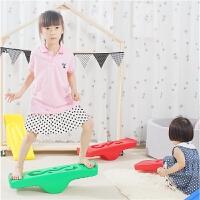 幼儿早教运动游戏拓展道具感统训练器材儿童健身平衡板玩具平衡木