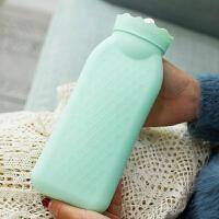 小号硅胶热水袋注水可爱暖水袋迷你绒布暖手袋宝学生儿童韩国随身