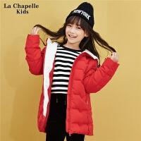 女童羽绒服轻薄款儿童2017冬季新款韩版中长款纯色时尚羽绒衣外套10293372