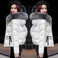 安妮纯短款棉衣女2019冬季新款韩版宽松百搭加厚小棉袄女装羽绒棉服外套