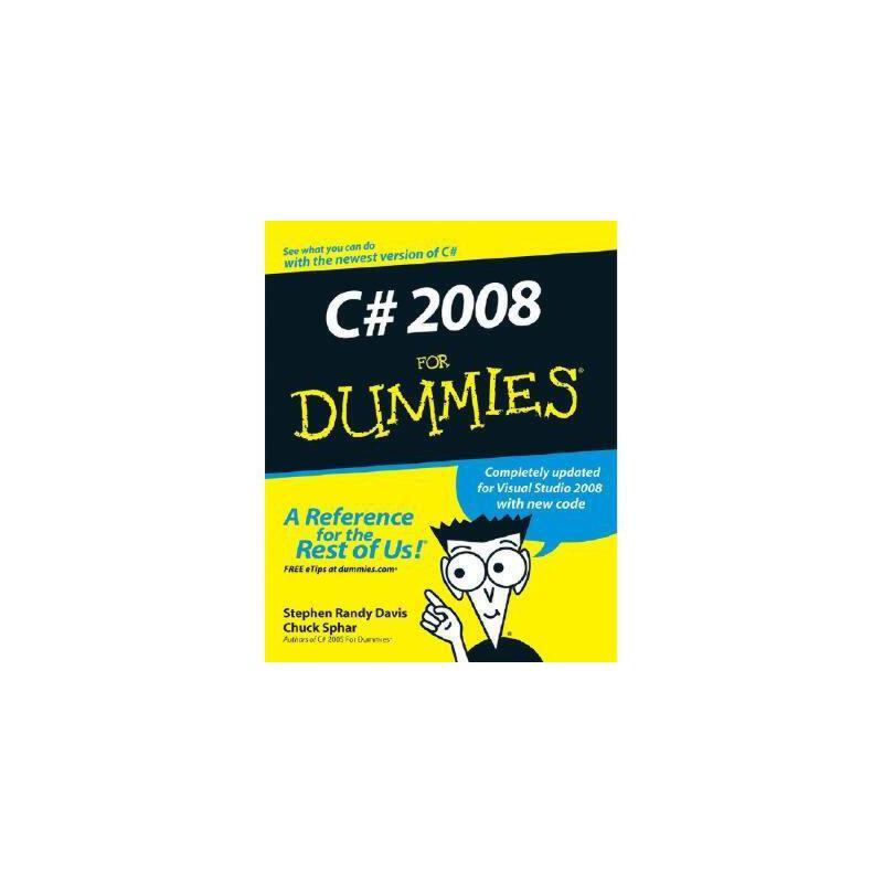 【预订】C# 2008 For Dummies 美国库房发货,通常付款后3-5周到货!