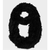 女士时尚兔毛圈圈围脖兔毛披肩 兔毛穿条围巾女秋冬皮草围巾