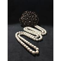 海南星月菩提原生态毛感料 桶珠 108颗念珠素串 男女佛珠项链手串