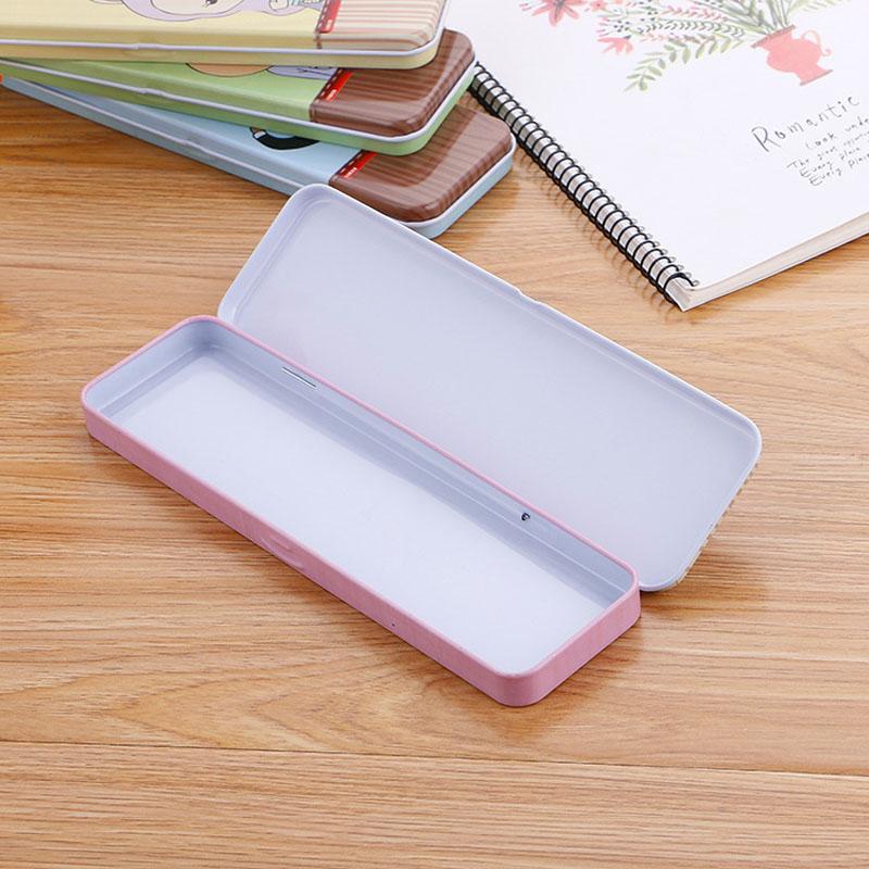 文具盒男小学生女孩女创意笔盒双层儿童铁盒幼儿园网红款铅笔盒