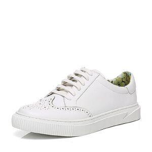 Tata/他她2017年春季牛皮男休闲鞋21F35AM7小白鞋运动鞋女小白鞋女