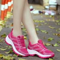 夏季新款女士登山鞋内增高防滑户外运动休闲鞋飞织徒步旅游鞋春季