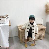 冬季儿童外套秋冬男童大衣2018新款韩版羊角扣中长款毛呢加厚宝宝外套秋冬新款