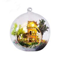 diy小屋 玻璃球微景观手工制作房子模型生日礼物送女友礼物520礼物 主图色