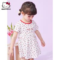 【2件2.3折:35.3元】HelloKitty女童连衣裙2021夏季新款婴儿宝宝公主裙洋气儿童装裙子