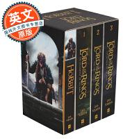 指环王 英文原版 魔戒 霍比特人 4本套装 The Hobbit and The Lord of the Rings (Box Set of Four)霍比特人和指环王4本盒装