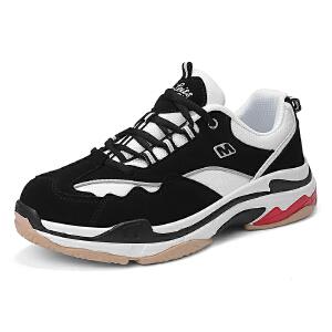 西瑞男鞋新款韩版百搭透气运动休闲鞋青少年熊猫鞋老爹MLD-WK867