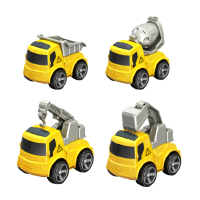 合金车小汽车玩具男孩女孩回力汽车儿童挖掘消防玩具车模型仿真车