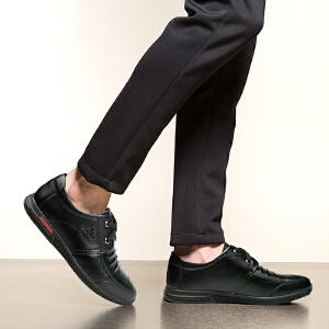 宜驰 EGCHI 休闲鞋男士系带商务软底鞋子男 20909