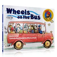 英文原版 Wheels on the Bus 经典儿歌童谣绘本 公车上的轮子 Raffi 0-3岁儿童启蒙绘本