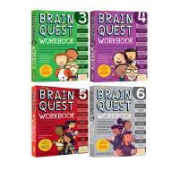 Brain Quest Workbook 2-4-5 英文原版3册 低龄少儿智力开发练习册 大脑任务 美国学前全科练习绿山墙