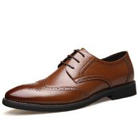 DAZED CONFUSED冬季新款男鞋皮鞋 商务休闲正装鞋 英伦休闲时尚布洛克男鞋皮鞋