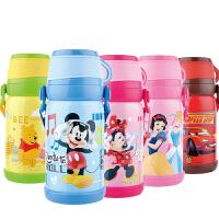 包邮!迪士尼 Disney  背带保温壶 600ML萌胖型防漏保温水杯 不锈钢学生水杯 五色可选!