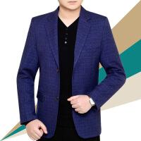 春秋西装中年男装休闲单件西服上衣商务小西装男修身韩版男士外套