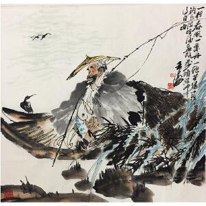 王涛《独钓图》著名画家