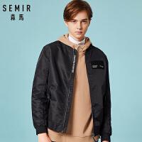 森马夹克男外套韩版秋季新款男装两面穿外套青年棒球服潮休闲上衣