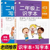 全2册小学生生字描红本/识字本写字本二年级上 部编版语文教科书同步训练小学生汉字专项训练儿童练字作业本默写铅笔描红本