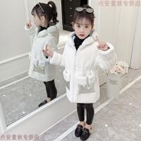 女童皮草外套2018新款韩版儿童冬装加厚大衣中长款小孩冬季毛毛衣