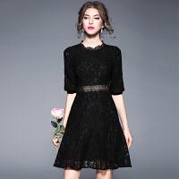 黑色晚礼服新款女宴会短款性感显瘦主持人晚宴公司年会礼服裙
