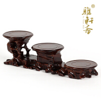 奇石根雕底座 紫砂壶花盆工艺品摆件木托 实木质花瓶木座