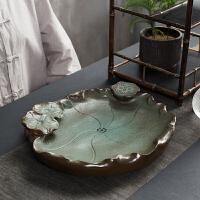 干泡茶盘家用创意日式功夫茶具托盘陶瓷泡茶台