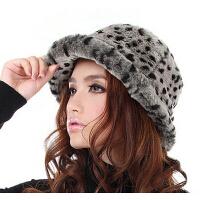 韩版潮冬天保暖时尚毛线女帽 豹纹款冬季帽子女士帽子 065