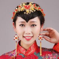 龙凤褂秀禾服汉服敬酒服配饰中式新娘发饰套装
